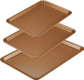 Ayesha Curry 47708 Nonstick  Bakeware Set/Baking Pans - 3 Piece, Brown