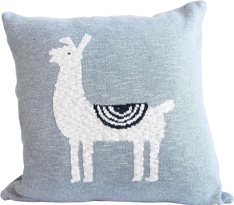 Creative Co-Op El Paso Mall Square Cotton Knit Llama 18