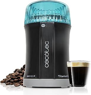 Cecotec Molinillo de Café y Especias TitanMill 200 Cuchillas recubiertas de Titanio, Capacidad de 50gr (10 tazas de café), 200 W