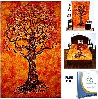 orange tree tapestry