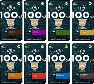 My Coffee Cup – GOURMET-KAFFEE-BOX: 160 KAPSELN BIO-KAFFEE I Kaffeekapseln für Nespresso³-Kapselmaschinen I 100% industriell kompostierbare Kaffeekapseln – 0% Alu I Nachhaltige Kaffeekapseln