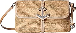 Anchor Flap Straw Bag