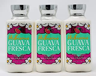 Lot of 3 Bath & Body Works Hibiscus Guava Fresca Shea & Vitamin E Body Lotion 8 fl oz each