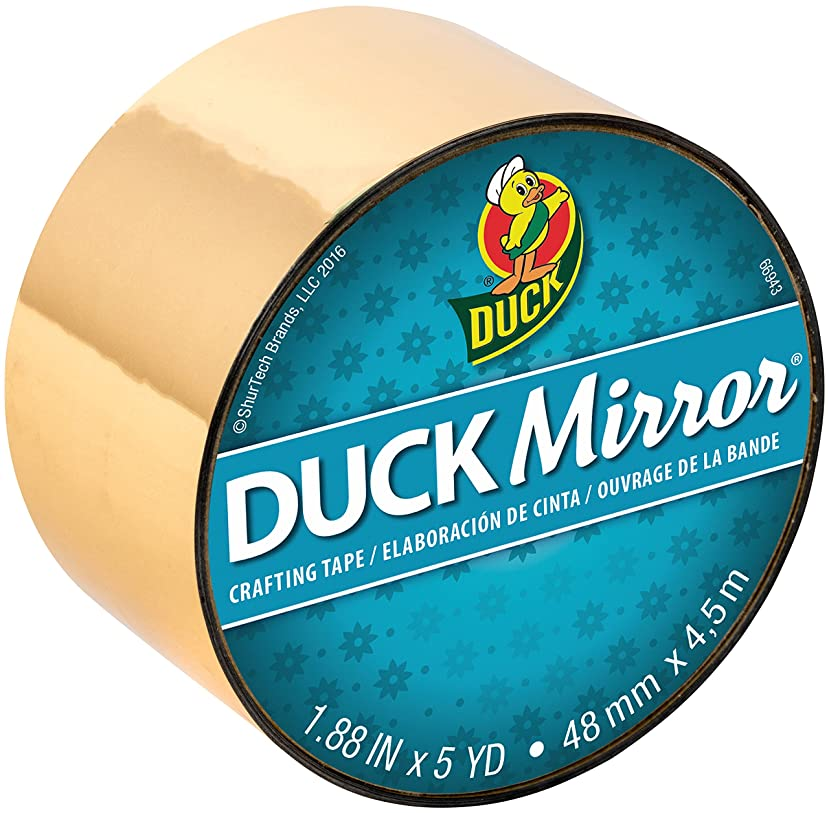 Duck 285278 Mirror Crafting Tape, 1.88 Inches x 5 Yards, Gold