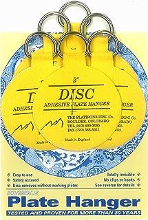 Flatirons Disc Adhesive Plate Hanger Set (6-2 Inch Hangers)