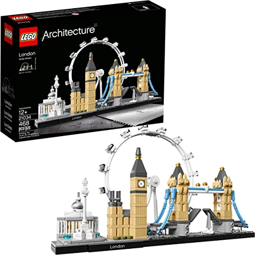 2021 LEGO Architecture London Skyline sale Collection 21034 Building Set Model Kit and outlet sale Gift for Kids and Adults (468 Pieces) sale