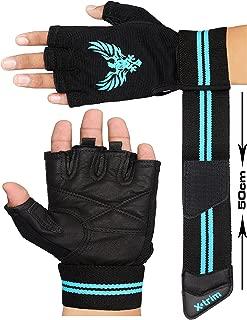 XTRIM X Macho Men's Leather Gym Workout Gloves