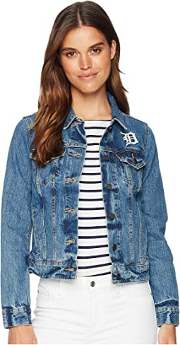 Levi's® Womens Detroit Tigers Denim Trucker Jacket
