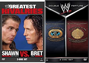 History Championship Slam + Wrestling Shawn Michaels VS. Bret Hart DVD Pack Greatest Rivalries + WWE Intercontinental Champions / World Heavyweight Double Feature Collection