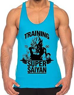 THE LION Goku Super Saiyan de los Hombres Camisa del músculo One Goku Dragon Master Son Ball Vegeta Turtle Roshi Piece Gym
