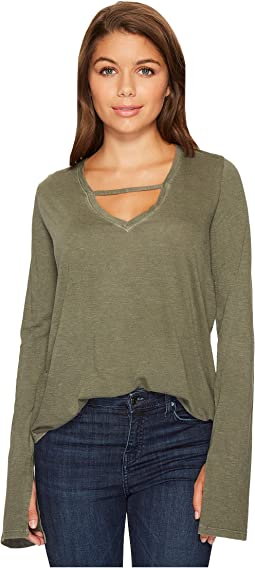 Joe's Jeans - V-Neck Long Sleeve Top