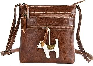 Stylish Leather Crossbody Crossover Bag for Women - Genuine Leather Crossbody Shoulder Handbag…