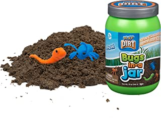 Bugs in a Jar - Unique Play Dirt For Burying and Digging Fun. Includes Dirt, Plastic Bugs, and Travel Jar