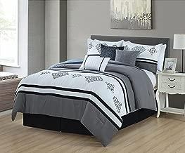 Luxlen Luxlury Bedding Set, Comforter, Grey
