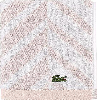 Lacoste Herringbone 100% Cotton Towel, 13x13 Wash Cloth, Blossom Pink