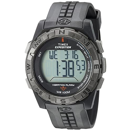 Timex Mens T49851 Expedition Vibration Alarm Black Resin Strap Watch
