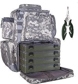 etacklepro Fishing Backpack Waterproof Tackle Bag with...