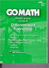 Go Math! Differentiated Instruction Resource Grade 8