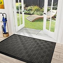 """DEXI Durable Rubber Door Mat, 23""""x35"""" Heavy Duty Large Doormat for Indoor Outdoor, Non-Slip, Waterproof, Easy Clean, Low-P..."""