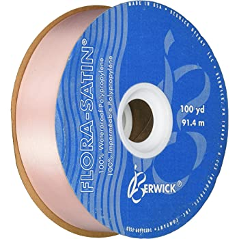 Berwick 1-7//16-Inch Wide by 100-Yard Spool Flora Satin Craft Ribbon Blue