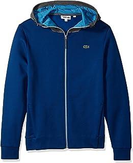 Lacoste Men's Long Sleeve Hoodie with Lining & Contrast Zipper Sweatshirt, SH3329