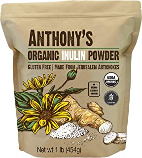 Sponsored Ad - Anthony's Organic Inulin Powder, 1 lb, Gluten Free, Non GMO, Made from Jerusalem Artichokes