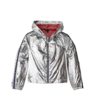 Tommy Hilfiger Kids Metallic Jacket (Big Kids) (Metallic Silver) Girl