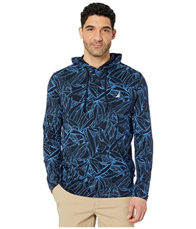 Nautica Long Sleeve Hoodie Top (Blue) Men