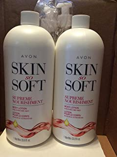 Avon ski so soft Supreme Nourishment Body Lotion for extra dry skin 33.8 fl.oz lot 2 bottles
