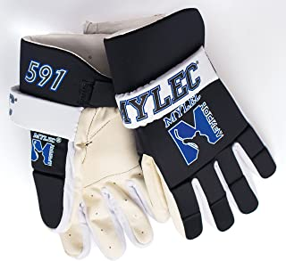 Mylec Youth and Men Hockey Player Gloves Black White Blue Silver