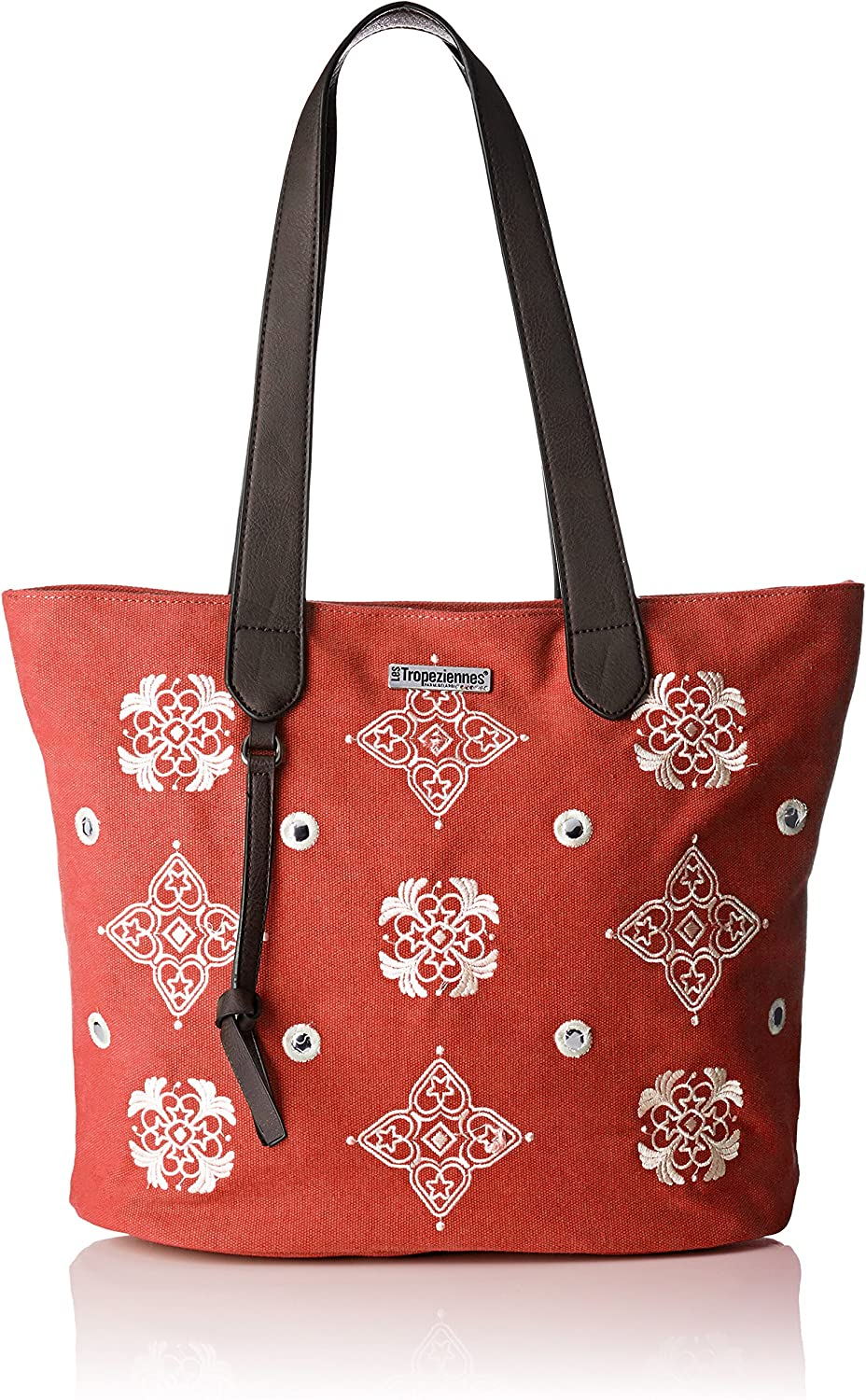 Les Tropéziennes Women's Dou01tzred w Tote Red red (Red W)