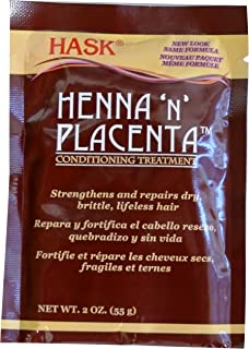 Hask Pks Henna & Placenta 2 Ounce Conditioning Treatment (12 Pieces) (59ml)
