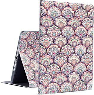 iPad Case iPad 9.7 2018 Case iPad Cover 2017 Case Egoing iPad Air Case iPad Air 2 Cover Soft TPU Protective Viewing Typing Folio Stands for Apple iPad 6th 5th (Colorful Mandala)