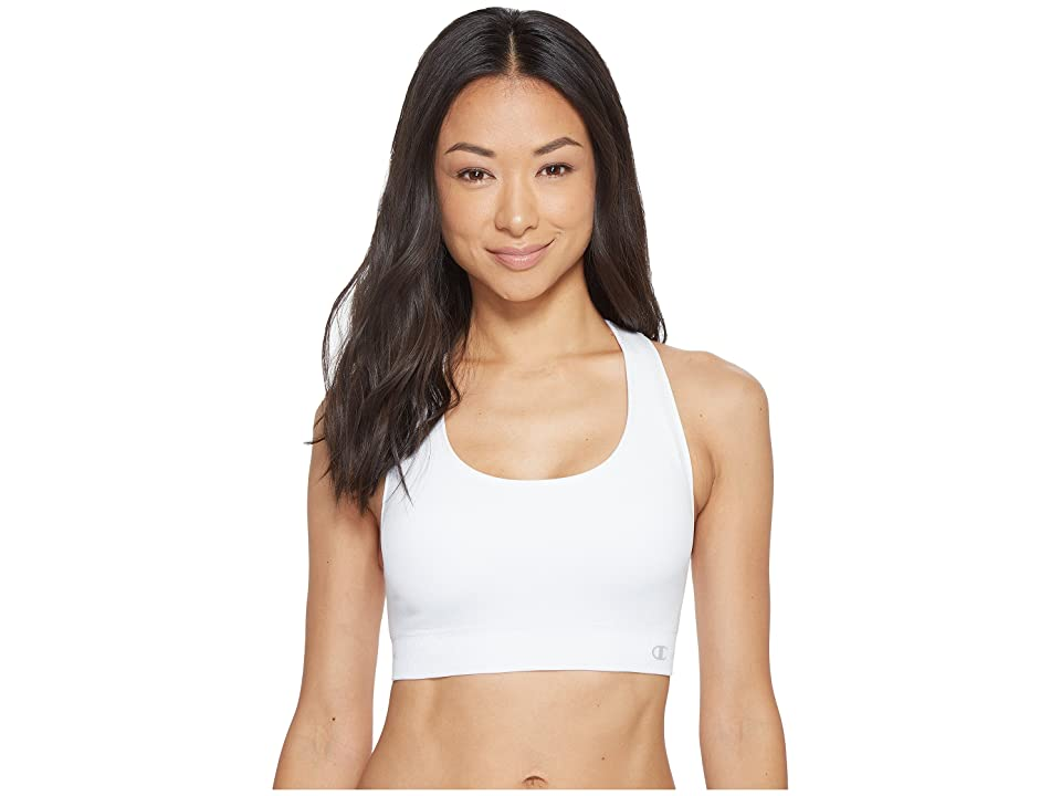 Champion Double Dry(r) Seamless Racerback Sports Bra (White) Women