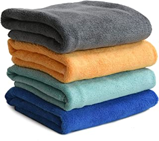 Microfiber Hand Towel 400 GSM (Set of 4, Multicolour)  Bathroom Towel Absorbent Small Towels for Hand,Face,Kitchen and Bath