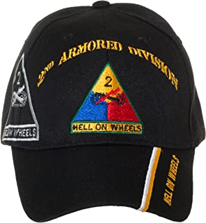 Officially Licensed US Army Armored Division Black Embroidered Baseball Cap - Multiple Divisions Available! …