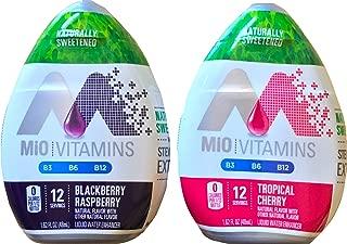 Mio Liquid Water Enhancer Blackberry Raspberry & Tropical Cherry 1.62 FL Oz (Pack Of 2 )