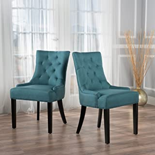 Christopher Knight Home Hayden Fabric Dining Chairs (Set Of 2), Dark Teal
