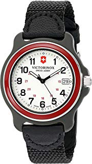 Victorinox Men's 249087 Original XL Black Stainless Steel Watch