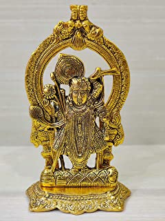 GiftNagri Metal God Tirupati Balaji Idol Showpiece Hindu Religious Sri Venkateswara Statue for Home Diwali Office Temple D...
