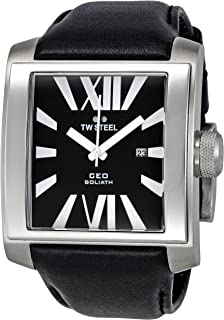 TW Steel Watch for Men, Leather, CE3005
