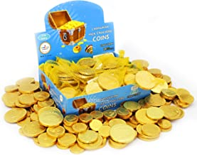 Hanukkah Chocolate Gelt - Milk Chocolate Coins, Made in Israel, OU-D Kosher Cholov Yisroel Chanukah Coins Box of 24 Mesh S...