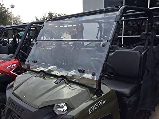 A&S AUDIO AND SHIELD DESIGNS 2016-2020 POLARIS RANGER 570 FULL SIZE CREW 3/16 POLYCARBONATE FOLD DOWN WINDSHIELD
