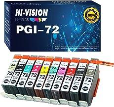 HI-Vision 10-Pack Compatible PGI-72 PGI72 PGI 72 Ink Cartridge Replacement for PIXMA Pro-10 Pro-10s Printer (PBK/MBK/C/M/...