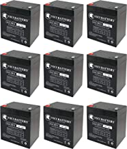12V 5AH Battery Replacement for Genesis Datasafe NPX-25TFR - 9 Pack - VICI Battery Brand Product