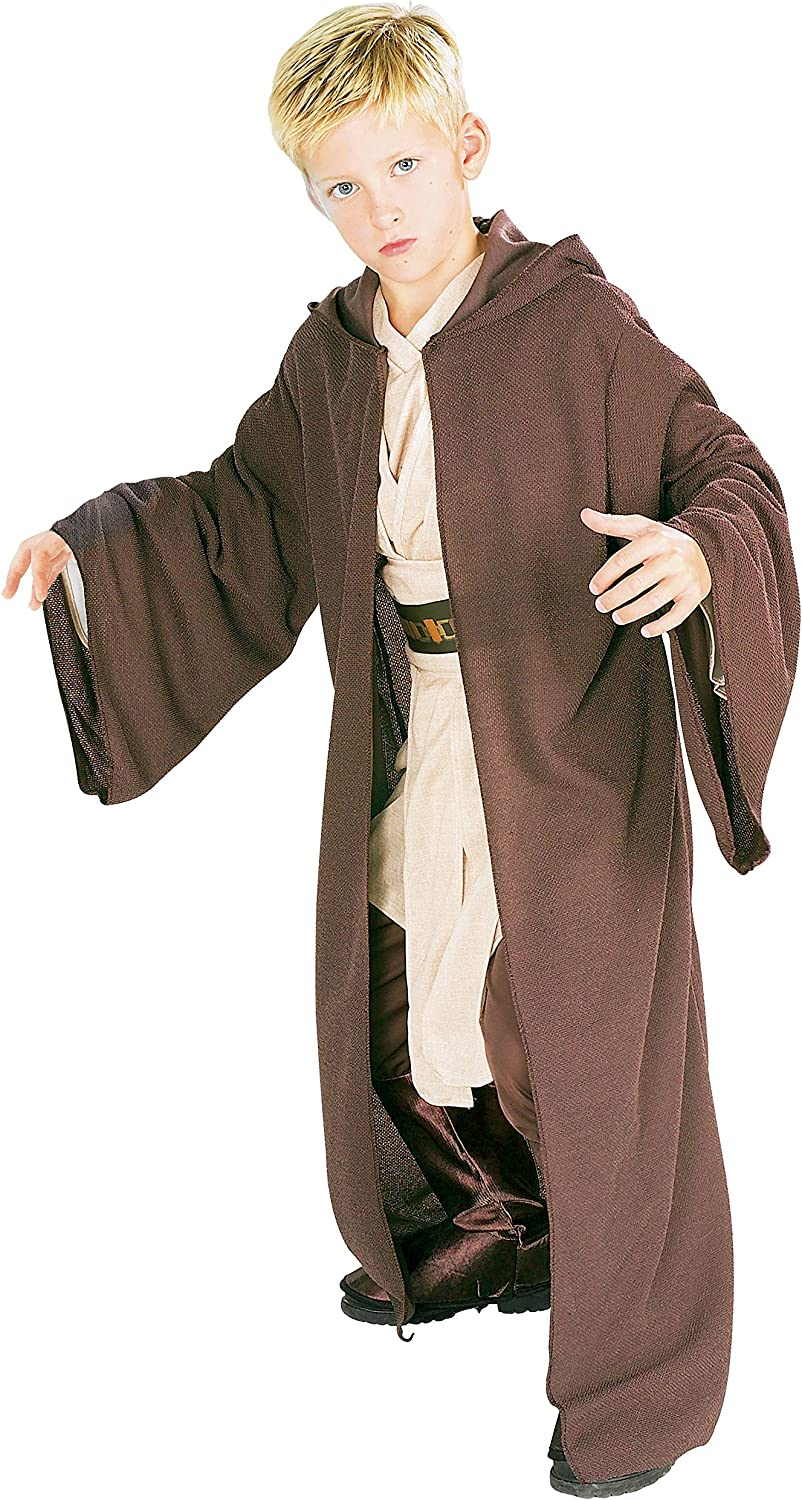 Rubies Costume Co Star Wars Deluxe Hooded Jedi Robe, Large