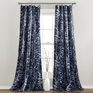 Lush Decor Forest 84 X 52 1 Curtains - Tree Branch Leaf Darkening Window Panel Drapes Set for Living, Dining, Bedroom (Pai...