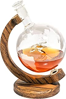 Mallard Duck Decanter in Etched Globe- Whiskey Decanter- Hunting Gifts for Men and Women, Duck Hunter Gift for Outdoorsman - Gift for Hunter or Fishing Gift, Lakehouse/Cabin Gift (Prestige Decanters)