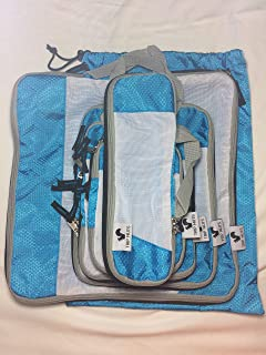 TRIP NUTS 6 Piece Travel Compression Packing Cubes Set - Luggage Organizer