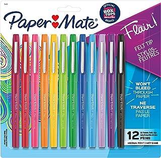 Paper Mate Flair Felt Tip Pens | Medium Point 0.7 Millimeter Marker Pens | School Supplies for Teachers & Students | Assor...